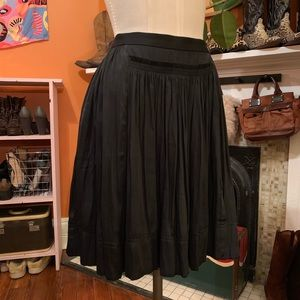 Cute Silky Midi Skirt